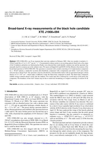 Broad-band X-ray measurements of the black hole candidate XTE ...