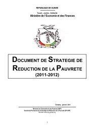 document de strategie de reduction de la pauvrete (2011-2012)