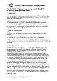 Protokoll der 3. Mitgliederversammlung - Senioren- und ...