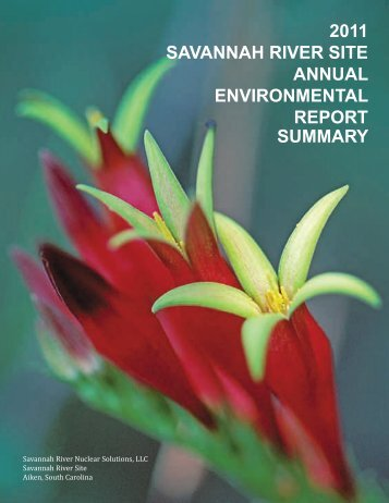2011 savannah river site annual environmental report summary