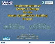 SRNS Implementation of DOE-STD-1189 - Savannah River Site