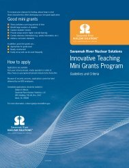 Innovative Teaching Mini Grants Program - Savannah River Site