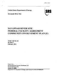 SRS Community Involvement Plan - Savannah River Site