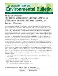 Environmental Bulletin - Savannah River Site