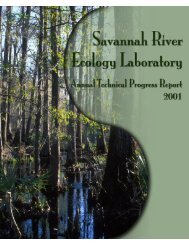 Savannah River Ecology Laboratory Annual Technical Progress ...