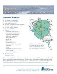 Click here to read the SRS Fact Sheet - Savannah River Site