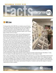 HB Line fact sheet - Savannah River Site