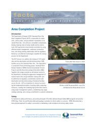 Area Completion Project - Savannah River Site