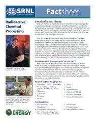 Radioactive Chemical Processing - Savannah River National ...