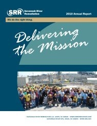 2010 Annual Report - Savannah River Remediation LLC