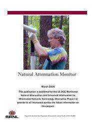 Natural Attenuation Monitor - Savannah River Site