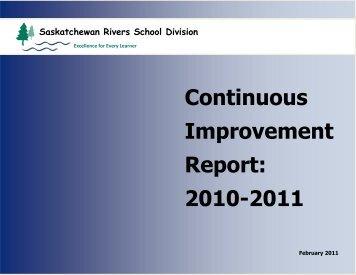 Continuous Improvement Report: 2010-2011 - Saskatchewan Rivers ...