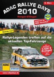Rallye-Legenden treffen auf die aktuellen Top-Fahrzeuge ... - SRS