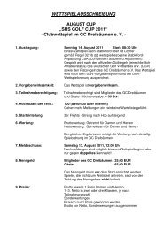 2011 SRSgolf Cup August Cup GC Dreibäumen - Ausschreibung