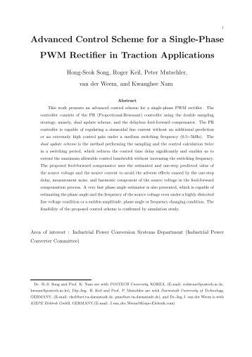 single phase pwm rectifier thesis