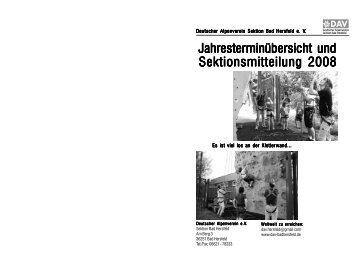 Jahresterminübersicht 2008 nicht montiert.p65 - Sektion Bad Hersfeld