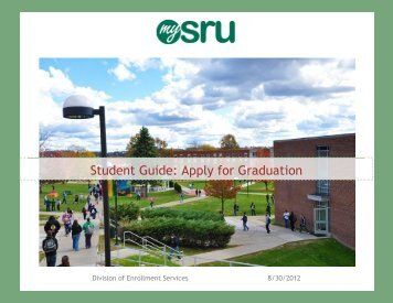 How to Apply for Graduation in MySRU - Slippery Rock University
