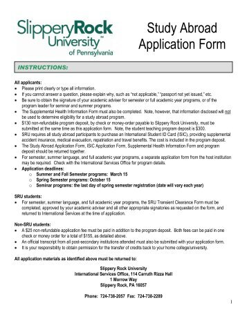 Slippery Rock University Letter Of Recommendation