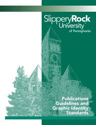 Publications Guidelines and Graphic Identity Standards
