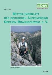Jahreshauptversammlung 2009 - Deutscher Alpenverein Sektion ...