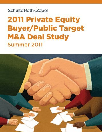 2011 Private Equity Buyer/Public Target M&A Deal Study