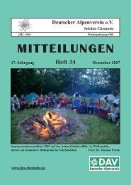 Sektionsmitglieder berichten - DAV Sektion Chemnitz