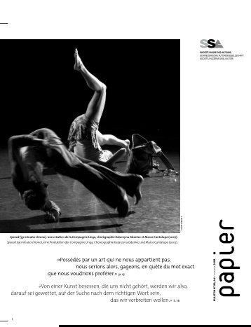 Papier Nr. 89 Sommer 2008 - SSA