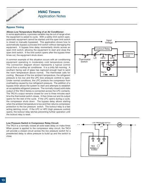 HVAC Timers Application Notes - SSAC