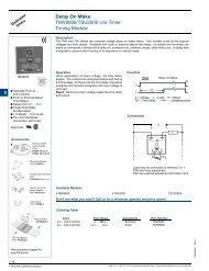 Delay On Make TMV8000/TSU2000 Uni-Timer Timing Module - SSAC