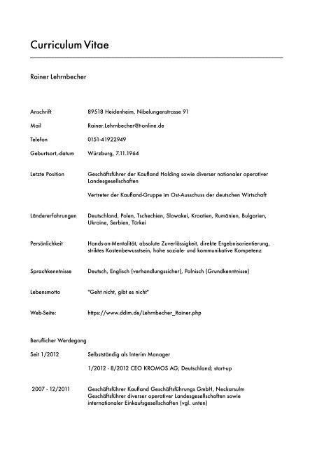 Cv Deutsch Pdf Datei 2623 Kb Ddim