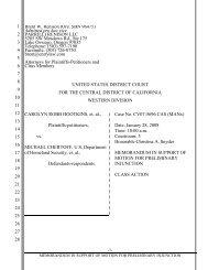 preliminary injunction motion - Surviving Spouses Against Deportation