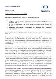 SsangYong ACTYON SPORTS — Presseinformation Auto-Salon Genf