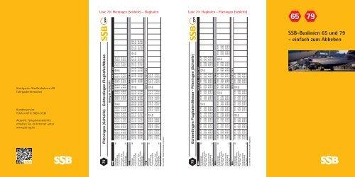 SSB-Buslinien 65 und 79 - einfach zum Abheben
