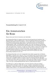 PM Nr. 2 vom 2.7. - Stadtsportbund Bonn eV