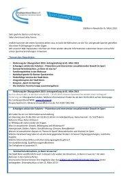 SSB Bonn-Newsletter 8 / März 2013 - Stadtsportbund Bonn eV