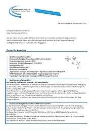 SSB Bonn-Newsletter 5 / Dezember 2012 - Stadtsportbund Bonn eV