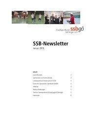 SSB Newsletter Nr. 34 / Januar 2009 - Stadtsportbund Göttingen eV