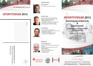 Sportforum 2013 - Stadtsportbund Hannover e.V.