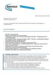 SSB Bonn-Newsletter 10 / Juni 2013 - Stadtsportbund Bonn eV
