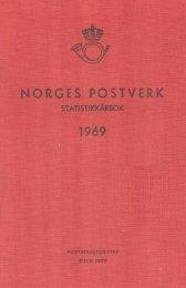 Norges Postverk Statistikkårbok 1969 - SSB