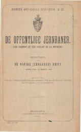 De Offentlige Jernbaner, Beretning om de Norske Jerbaners Drift, 1 ...