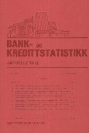 Bank- og kredittstatistikk. Aktuelle tall 1982 nr. 3 - SSB