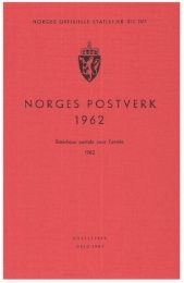 Norges postverk 1962