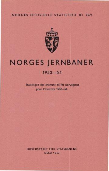 Norges jernbaner 1953-54 - SSB