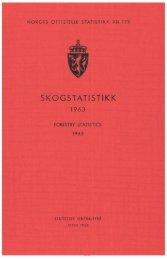 Skogstatistikk 1963 - Statistisk sentralbyrå