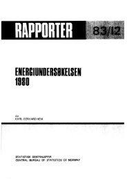 Energiundersøkelsen 1980 / Karl-Gerhard Hem. 1983. 46s ... - SSB