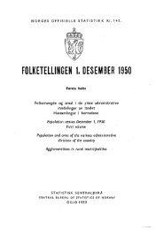 Folketellingen 1. desember 1950 : frste hefte - Statistisk sentralbyrå