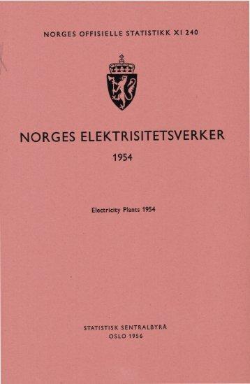 Norges elektrisitetsverker 1954 - SSB