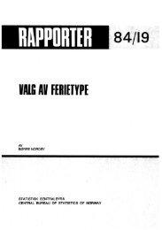Valg av ferietype - Statistisk sentralbyrå