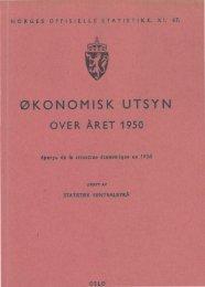 XI 47 1950 - Statistisk sentralbyrå